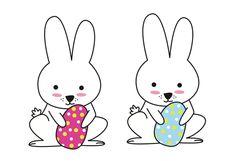 Easter paper. Conejitos de Pascua/ Easter Bunny  http://dibujos-para-colorear.euroresidentes.com/2013/03/dibujos-de-conejitos.html