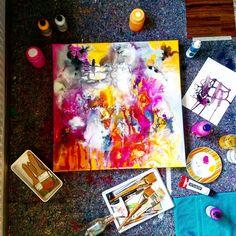 Atelier in Vienna, Austria   Dorota Henk   Instagram: @dorotahenk   dorotahenk.com   #vienna #art #abstract #painting #atelier #diy #acryl Vienna Austria, Abstract Art, Instagram, Diy, Painting, Atelier, Bricolage, Painting Art, Do It Yourself