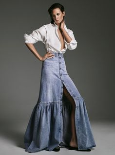 Britney Spears and John Galliano's Designs for Dior Inspired This Elevated Denim Label - The Design Duo Behind Citizens of Humanity Have Launched Their Own Denim-Meets-Ready-to-Wear Label - Denim Fashion, Runway Fashion, Boho Fashion, Fashion Outfits, Fashion Design, Fashion Trends, Fashion Details, High Fashion, Mode Outfits