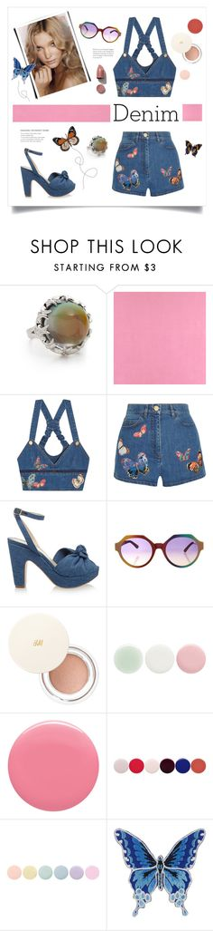 """Vintage Denim"" by grrr8style ❤ liked on Polyvore featuring Eddie Borgo, Casadeco, Valentino, Beauty Secrets, Charlotte Olympia, Marco de Vincenzo, H&M, Nails Inc., Deborah Lippmann and NARS Cosmetics"