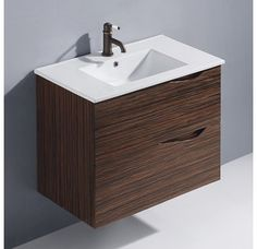 "We like the draw pulls on this single sink. View the Vigo VG09038109K1 32"" Espresso Mayan Single Bathroom Vanity at Build.com."