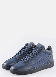 Blue Rock Climbing Shoes Laced