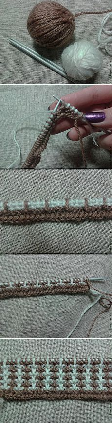 How to avoid yarn broaches on a wrong side at jacquard knitting - Knitting - my kopilochka // diba Diba Baby Knitting Patterns, Knitting Stiches, Crochet Stitches, Hand Knitting, Crochet Patterns, Techniques Couture, Knit Or Crochet, Crochet Clothes, Creations