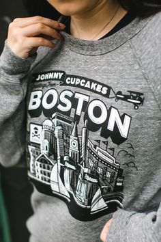 EXCLUSIVE Johnny Cupcakes Zip Up Hooded Sweatshirt BOSTON