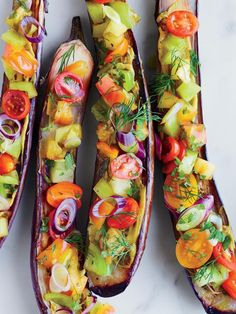 Miso-Roasted Eggplants with Tomatoes, Dill, Shiso and Black Vinegar Recipe   http://aol.it/1mkOsz1