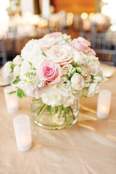 Darling pink and white centerpiece. Wedding by Deanie Michelle Events. Photo by Celina Gomez Photography. #wedding #centerpiece #pink