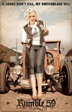 Pin up rockabilly Rockabilly Style, Rockabilly Fashion, Rockabilly Dresses, Rockabilly Girls, Rockabilly Clothing, Hot Rods, Vintage Pin Ups, 50s Vintage, Vintage Style