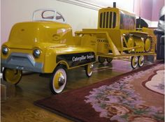 custom pedal outfit Pedal Tractor, Pedal Cars, Antique Toys, Vintage Toys, Roadster Car, E Motor, Kids Bicycle, Farm Toys, Kids Ride On