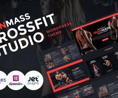 IronMass - Gym Fitness & Bodybuilding Elementor WordPress Theme Best Free Wordpress Themes, Premium Wordpress Themes, Themes Free, Fitness Studio, Gym Fitness, Website Template, Gym Workouts, Bodybuilding, How To Become