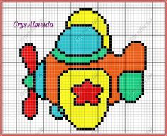 Cross Stitch For Kids, Cross Stitch Charts, Cross Stitch Patterns, Knitted Jackets Women, Diy Projects To Try, Beading Patterns, Pixel Art, Crochet Baby, Embroidery