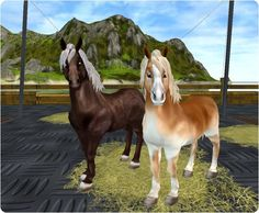 Cute-tastic! I own the pony to the right! Isn't she fabulous? I got her on the fort pinta pony boat. I recommend that spot to get ponies, because they are ADORABLE!!!! <3 <3 <3 :D