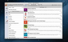 Podcast player on Mac