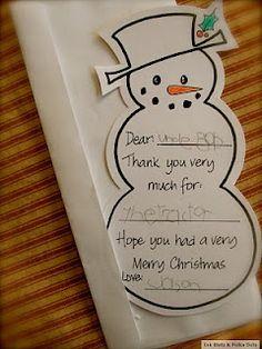 Adorable Christmas Kids' Thank You Card