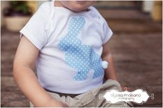 BLUE EASTER BUNNY Boys Polka Dot Bunny by SweetThreadsClothing, $17.95
