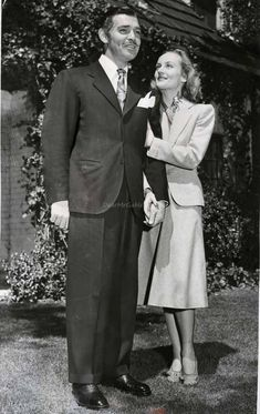 Clark Gable and Carole Lombard after their wedding. She was his soul mate. Now they are together again
