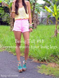 tall girl benefit - long legs - embrace them!