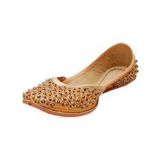 4f5c7ffd1ae Gold fabric and leather footwear