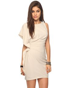 The neutral dress gives you SO many options to add pops of color in jewelry, shoes, bags, or hair!