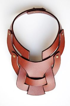Leather necklace by Anuk Harvey