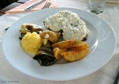 Steak under the gorgonzola sauce. Trogir. Croatia. www.victortravelblog.com/2013/02/11/austrian-cuisine-vs-croatian/
