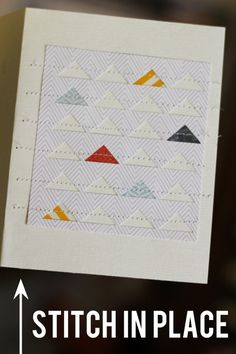 tutorial on creating a graphic card with triangles by lisa truesdell.