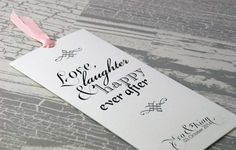 Love Laughter Wedding Invitation