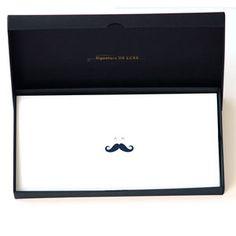25er Set personalisierte Karten mit Design Schnurrbart