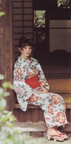 Kate Bush in a yukata in Japan - 1978
