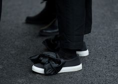 Street style at the friends and family Comme Des Garçons x Dover Street Market Super-Market-Market sample sale.