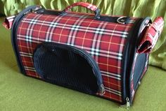 Red and Black Small Dog/ Cat Carrier Travel Bag