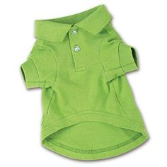 """Zack & Zoey Cotton Polo Shirt for Dogs, 12"""" Small, Parrot Green"""