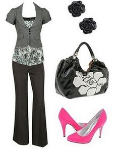 several stylish outfits for work