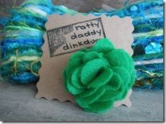 Check out our blog! Our Scrappy Green Felt Flower Pin is featured today!