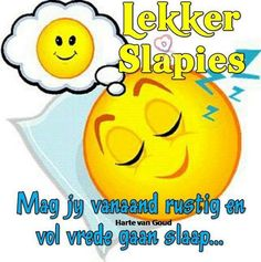 Funny Emoticons, Smileys, Goeie Nag, Goeie More, Afrikaans Quotes, Good Morning Quotes, Good Night, Bunnies, Inspirational
