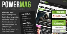 PowerMag is a stylish ultra bold Magazine, News and Blogging Wordpress theme which is fully Search Engine Optimized and comes with endless features.