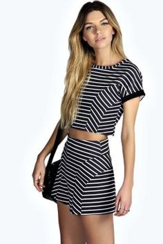 Sinead Crop Top And Shorts Co-Ords Set