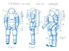 Space Suit Patent - 1986