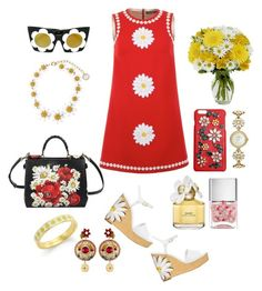 Daisy Love by christinemusal on Polyvore featuring Dolce&Gabbana, Kate Spade, Linda Farrow, Marc Jacobs and Nails Inc.