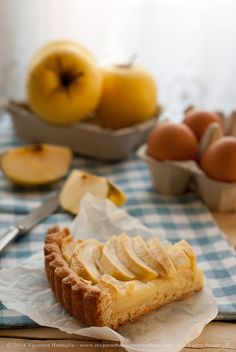 Crostata di mele e crema. Le vecchie enciclopedie di cucina