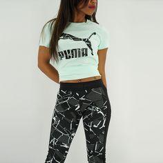 Women's Puma x Archive Logo Tee   Shop at YCMC.com   Shop at YCMC.com #PUMA #Athletic #CasualWear #GraphicTee #PrintedLeggings #Summer2015 #Streetwear #MissYCMC