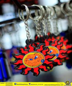 Branded Rubber Keychains assorted for Motorcycle Riders.... All Accesories available @ Bandidos - PITSTOP