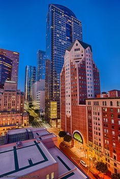 Financial District, S Grand Ave-Los Angeles, California by Joshua Gunther.