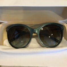 Authentic Chloe Sunglasses!!Weekend Sale Name on inside and outside of glasses these are new without scratches comes with cloth and designer case !! Trade valve 350 Chloe Accessories Sunglasses
