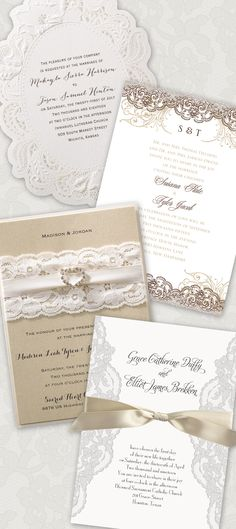 Hello, LACE! The prettiest lace wedding invitations you'll find. From www.invitationsbydawn.com