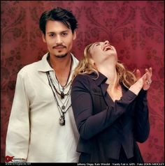 Johnny Depp and Kate Winslet in Vanity Fair Italia, June 2005 photographed by John Midgley