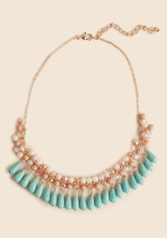 La Colima Necklace. A bib without being too flashy. I can see this paired with a mustard cardigan.