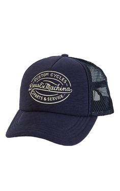 Deus Ex Machina Mike Trucker Cap Navy b82e3900b28