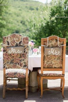 For a charming French wedding, mismatched vintage chairs are a must | Brides.com