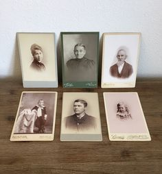 Antique Cabinet Card Photos (Lot of 6); Victorian Era Photos; 1800s Cabinet Cards; Antique Pictures; Photo Collection; Paper Ephemera by Speckadoos on Etsy