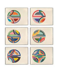 Artwork by Frank Stella, 6 works, Sinjerli Variations, Made of ffset lithographs and screenprints in colors on Arches Cover paper Frank Stella Art, Post Painterly Abstraction, Abstract Geometric Art, Guache, Elementary Art, Art Auction, Abstract Expressionism, Art Lessons, Art History